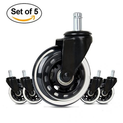 53efe6d03 Cusfull Premium Office Chair Caster Wheels Replacement Standard Size 3-Inch  Heavy Duty   Safe