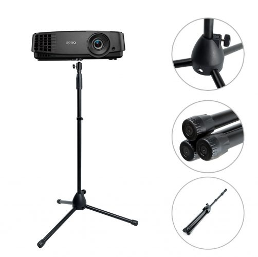 "DanDiao Projector Stand, Portable Adjustable Tripod Mount Floor Stand Holder with 360°Swivel Ball Head for Mini Projector, Camera, Webcam, GoPro (Height 29.5"" to 55.1"") - Projector Tripod Stands"