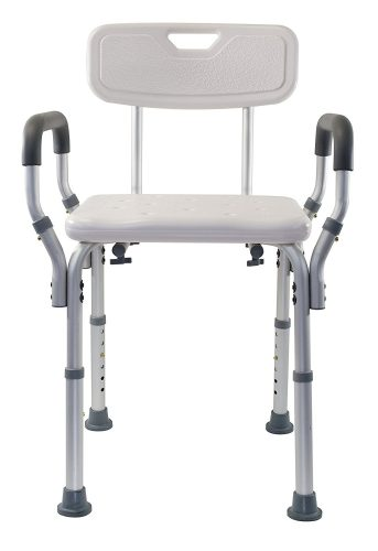 Essential Medical Supply Shower Bench with Arms and Back - Best Shower Transfer Benches