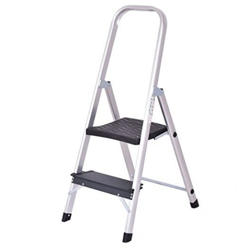 Giantex Aluminum 2 Step Ladder - 2 Step Ladders