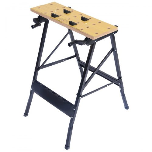 Goplus Folding Work Bench Steel Table Garage Portable Tool Workbench - Portable Folding Workbenches
