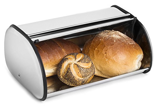 Greenco Stainless Steel Bread Bin Storage Box - bread boxes