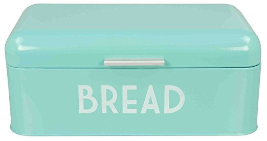 Home Basics Metal Bread Box with Lid - bread boxes