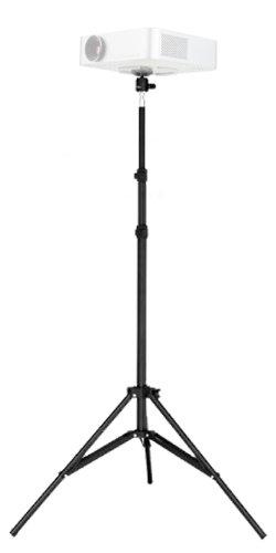 "IShot Pro Pocket Projector Tripod Floor Stand Holder & 360° Swivel Ball Head Bundle Kit - Adjustable Height (29.5"" - 77"") TSBH-88 - Projector Tripod Stands"