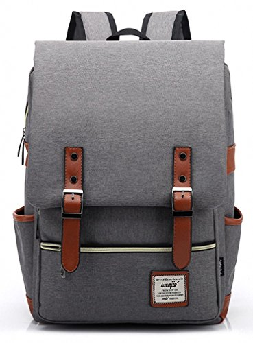 Kenox Vintage Laptop Backpack College Backpack School Bag Fits 15-inch Laptop - 15 inch laptop backpack