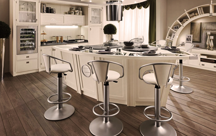 Leather Swivel Bar-Stools