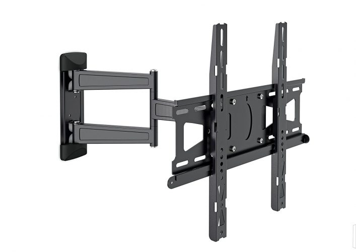 MOUNT MASSIVE TV Wall Mount, MNT 208 180° Swivel and Tilt Mount for 32 to 55 inch TVs, Black - Curved and Flat TV Wall Mount Bracket