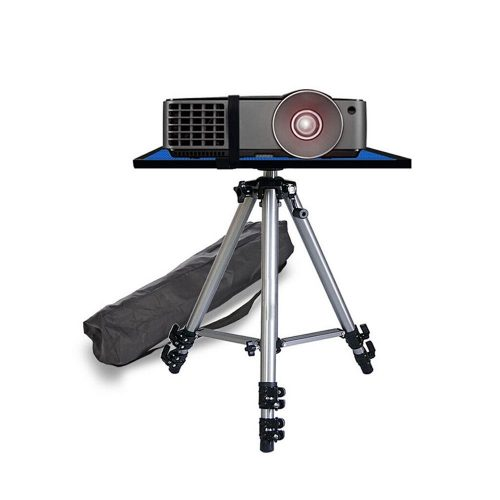 Meitoot Video Projector Stand Tripod Stand Mount Adjustable Height with Swivel/Rotating Pallet Plate Tray for iPad Tablets Camera Laptop and Carrying Bag - Projector Tripod Stands