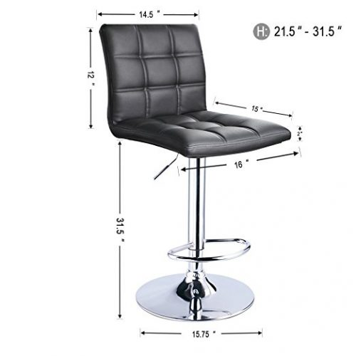 top 10 best leather swivel bar-stools in 2018 Top 10 Bar Stools