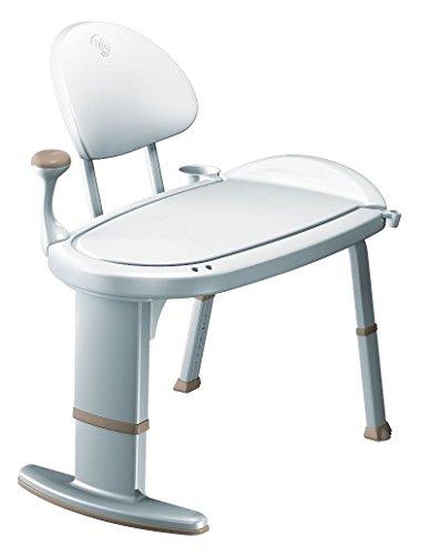 Moen Non-Slip Adjustable Transfer Bench, Glacier White - Best Shower Transfer Benches