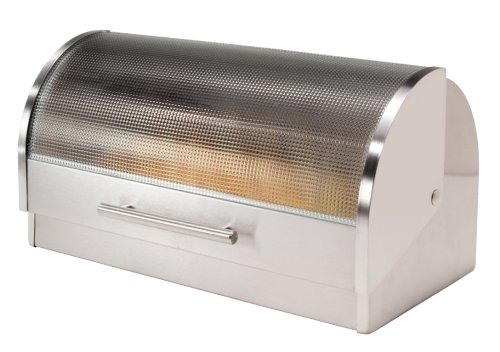 ggi Stainless Steel Roll Top Bread Box - bread boxes