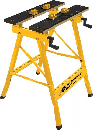 Performance Tool W54025 Portable Multipurpose Workbench and Vise (200 lbs Capacity) - Portable Folding Workbenches
