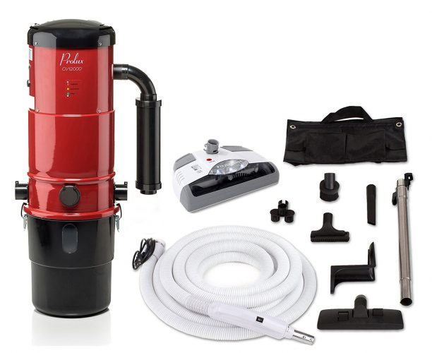 Prolux CV12000 Central Vacuum Unit System with Electric Hose Power Nozzle Kit and 25 Year Warranty - Central Vacuum Systems