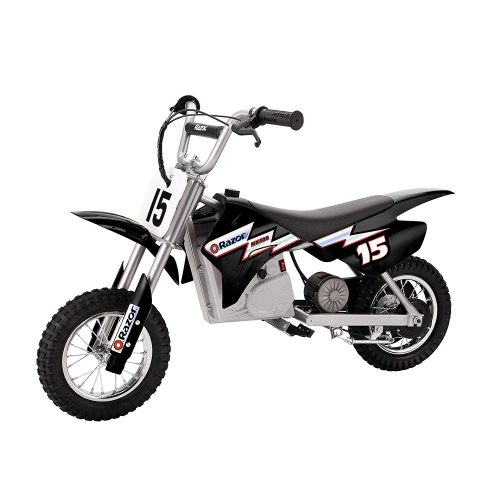 Razor MX400 Dirt Rocket 24V Electric Toy Motocross Motorcycle Dirt Bike, Black - Electric Dirt Bike