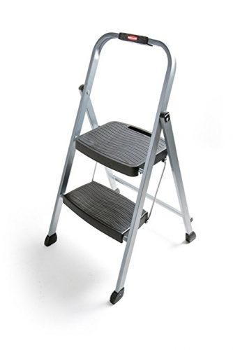 Rubbermaid RM-2W Folding 2-Step Steel Frame Stool - 2 Step Ladders
