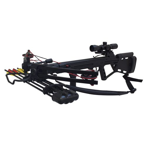 SAS Crusher 150lbs Tactical Crossbow 4x32 Scope Package - Crossbows under 500