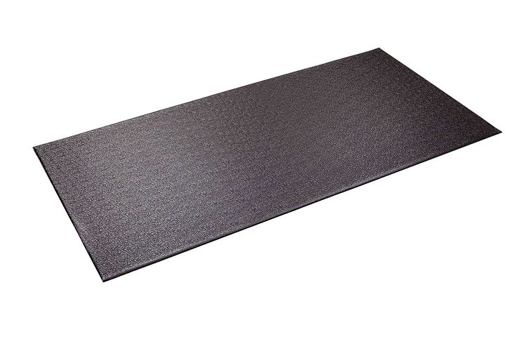 SuperMats Heavy Duty P.V.C. Mat for Cardio- Fitness Products (2.5-Feet x 5-Feet) - Gym and exercise equipment floor mat