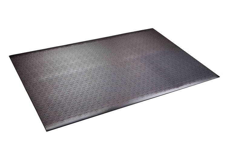 Supermats Solid Heavy Duty P.V.C. Mat for Home Gyms/Weightlifting Equipment (4-Feet x 6-Feet) - Gym and exercise equipment floor mat