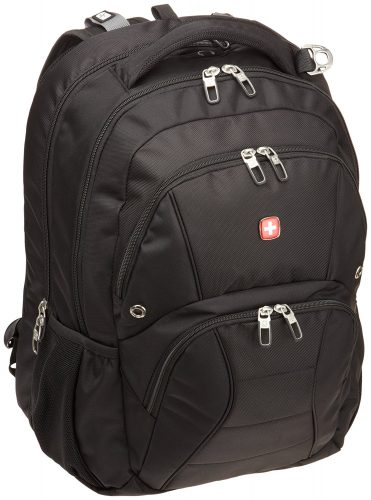 Swiss Gear SA1908 Black TSA Friendly ScanSmart Laptop Backpack - Fits Most 17 Inch Laptops and Tablets - 17-inch laptop backpacks