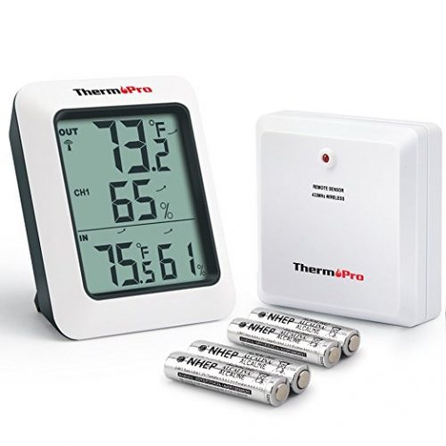 ThermoPro TP60 Digital Hygrometer Indoor Outdoor Thermometer - Weather Thermometers