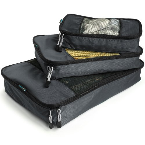 Travel Wise Packing Cube System - Durable 5 Piece Weekender+ Set. - packing cube