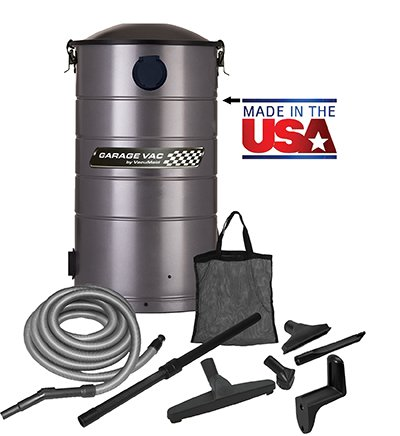 VacuMaid GV30 Wall Mounted Garage Vacuum with 30 ft Hose and Tools - Central Vacuum Systems