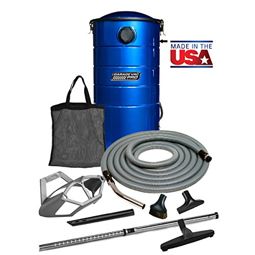 VacuMaid GV50BPRO Professional Wall Mounted Utility and Garage Vacuum with 50 foot Hose and Tools - Central Vacuum Systems