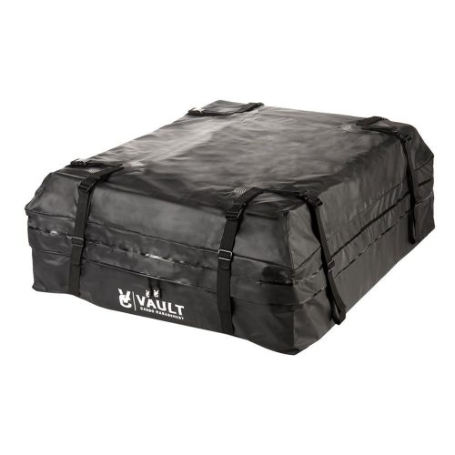 Waterproof Canvas Cargo Storage Roof Bag by Vault Cargo – On top of Car Bag - Straps to Crossbars or a Roof Basket - Waterproof Carrier Bag Has 15 Cubic Feet of Capacity – Fit for the Outdoor Elements - Best Waterproof Roof Top Cargo Bags