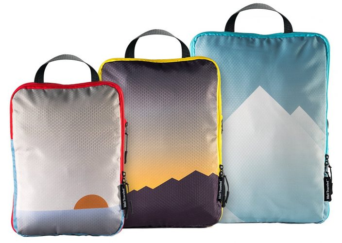 Well Traveled Compression Packing Cubes Set Travel Organizer Compression Pouches - packing cube