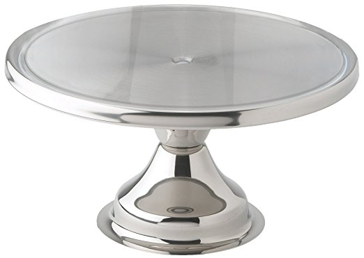 Winco 13inch Stainless Steel Cake Stand CKS-13 - cake stands with dome