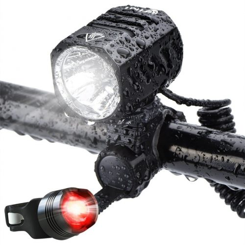 Super Bright Bike Light USB Rechargeable, Te-rich 1200 Lumens Waterproof Road / Mountain Bicycle Headlight and LED Taillight Set with 4400 mAh Battery - Bicycle Headlights