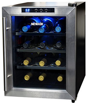 NewAir AW-121E 12 Bottle Thermoelectric Wine Cooler - Freestanding Wine Cellar