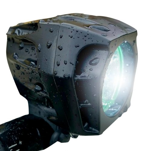 Bright Eyes FULLY WATERPROOF 1600 lumen Rechargeable Mountain, Road Bike Headlight, 6400mAh battery (NOW 5+ HOURS on Bright Beam). Comes w/ FREE DIFFUSER LENS and FREE TAILLIGHT - Bicycle Headlights
