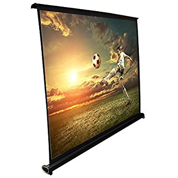"Pyle 50"" Projector Screen with Floor Standing Portable Fold-Out Roll-Up Tripod Manual, Mobile Movie Screen, Home Theater Cinema Wedding Party Office Presentation, Quick Assembly (PRJTP52) - Projector Screen with Stands"