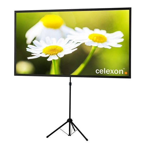 "Celexon 80"" Tripod Projector Screen Ultra Lightweight - Projector Screen with Stands"