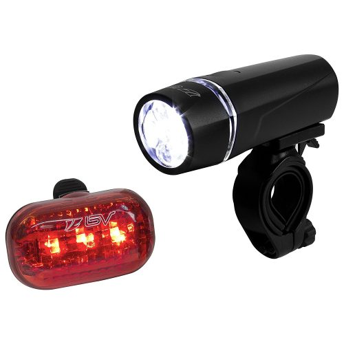 BV Bicycle Light Set Super Bright 5 LED Headlight, 3 LED Taillight, Quick-Release - Bicycle Headlights