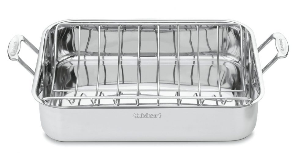 Cuisinart Chef's Classic Stainless 16-Inch Rectangular Roaster with Rack, 7117-16UR - Roasting Pan
