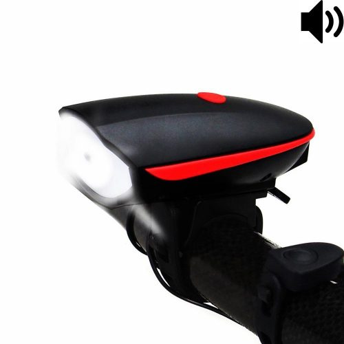 Fineed Bike Light Bicycle Horn USB Rechargeable, Super Bright Bicycle Headlight Waterproof, 1200mAh Lithium Ion Battery, 3 Lighting Modes, 5 Horn Sounds, 120 Db, Easy to Install - Bicycle Headlights