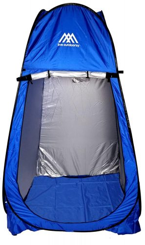 Pop-Up Changing Room Tent by Live Outdoorsy - Portable Tent is Excellent for Dressing Rooms, Camping, Showers, or Beach Use with Removable Bottom Mat and Carry - Best Shower Tents