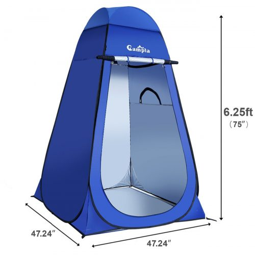 Campla Portable Pop up Dressing/Changing Tent Beach Toilet Shower Changing Room Outdoor Shelter with Carrying Bag - Best Shower Tents
