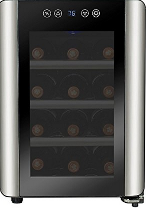 Firebird 12 Bottles Thermoelectric Single Zone Freestanding Electric Adjustable Wine Cooler Cellar - Freestanding Wine Cellar