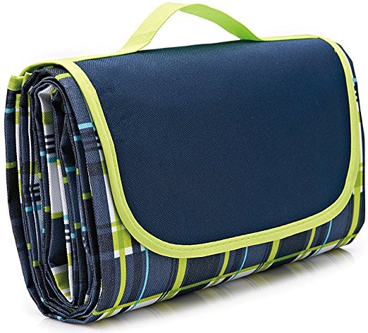 """80×60""""Family Picnic Blanket with Tote, Extra Large Foldable and Waterproof Camping Mat for Outdoor Beach Hiking Grass Travel NaturalRays - Picnic Blankets"""