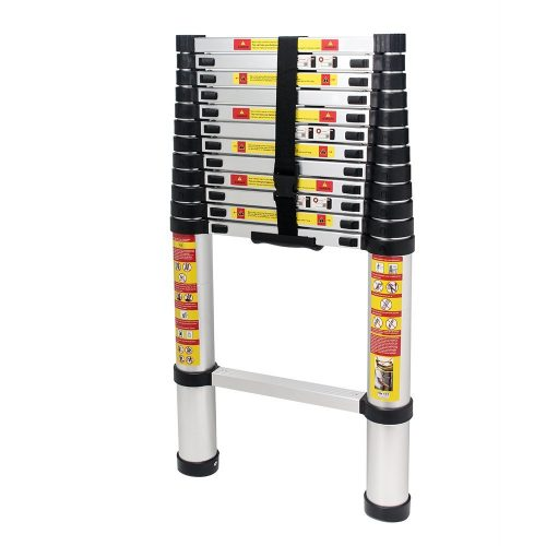 Aluminum Telescoping Extension Ladder 2.8 ft - 12.5 ft 13 Steps Heavy Duty. - Telescoping Ladder