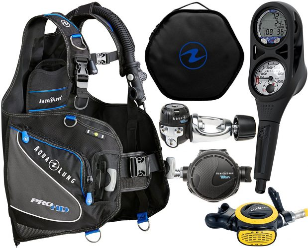 Aqua Lung Custom Essential Scuba Gear Packages Dive Computer BCD Regulator Set Reg Bag - Scuba Gear Packages