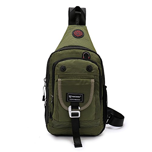 Nicgid Sling Bag Chest Shoulder Backpack Crossbody Bags For iPad Tablet Outdoor Hiking Men Women - Sling Bags for Men