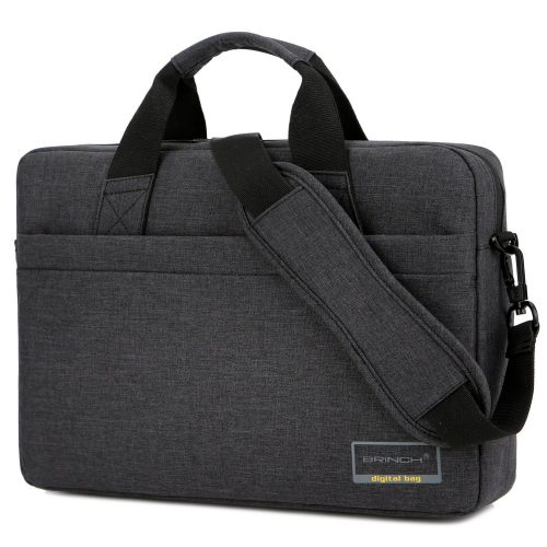 BRINCH 15.6 Inch Stylish Lightweight Business Laptop Shoulder Messenger Bag Briefcase Sleeve Case for 15 - 15.6 Inches Laptop / Notebook / MacBook / Ultrabook / Chromebook Computers, Black - laptop messenger bag