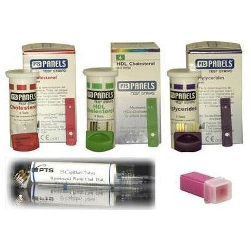 Cardio Chek Refill Cholesterol Kit includes test strips(total,hdl,trig), capillaries, and lancets - Cholesterol Test Kit