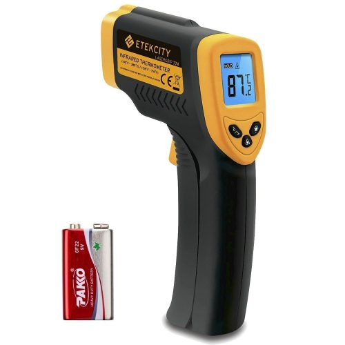 Etekcity Lasergrip 774 Non-contact Digital Laser Infrared Thermometer Temperature Gun -58 degree F~ to 716 degrees F (-50degrees C ~to 380 degrees C), Yellow and Black- Candy Thermometer