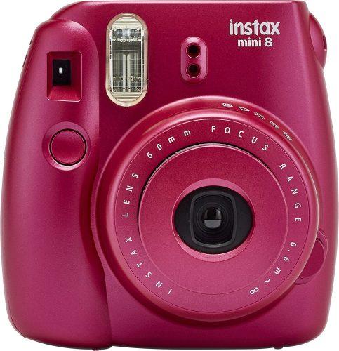 Fujifilm Instax Mini 8 Instant Film Camera (Pomegranate Red) - instant film cameras