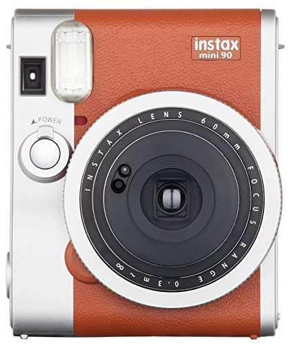 Fujifilm Instax Mini 90 Instant Film Camera (Brown)  - instant film cameras